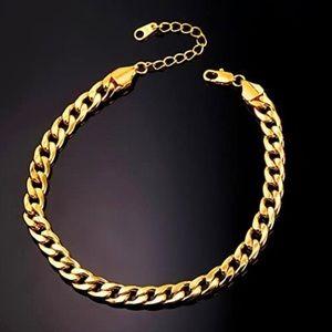 18K Gold Chain Anklet Foot Bracelet New